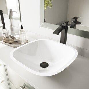 Phoenix Glass Square Vessel Bathroom Sink VIGO