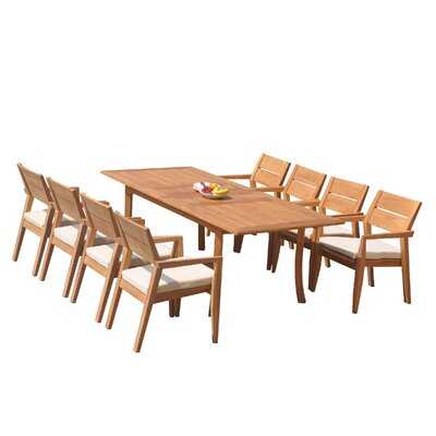 Vellore 9 Piece Teak Dining Set by Teak Smith Comparison