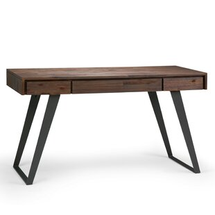 Elle Solid Wood Writing Desk by Union Rustic #2