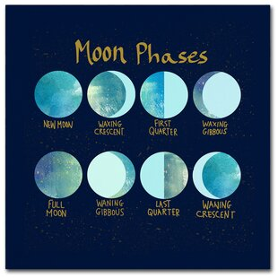Moon Phases Graphic Art Print On Wrapped Canvas