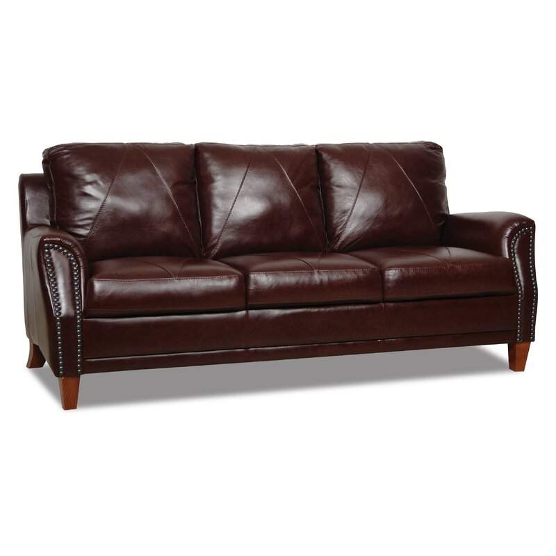 Williston Forge Austin Leather Sofa & Reviews | Wayfair