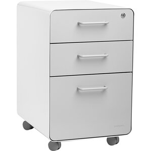 3 Drawer Mobile Vertical File Cabinet