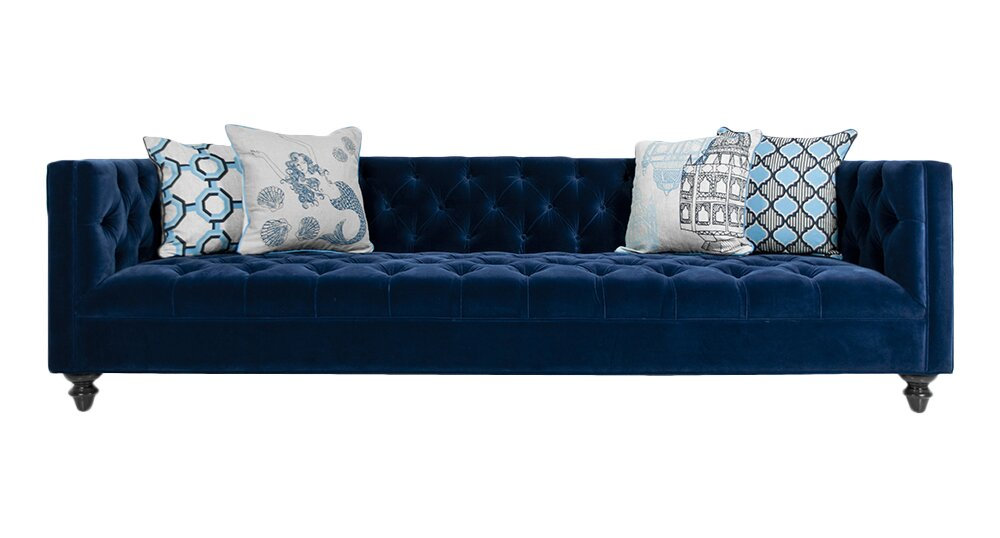 Exceptionnel Navy Chesterfield Sofa