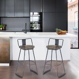Johannsen Swivel Bar & Counter Stool (Set of 2) by Williston Forge