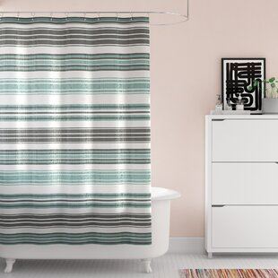Affordable Lucio Stripe Shower Curtain ByWrought Studio