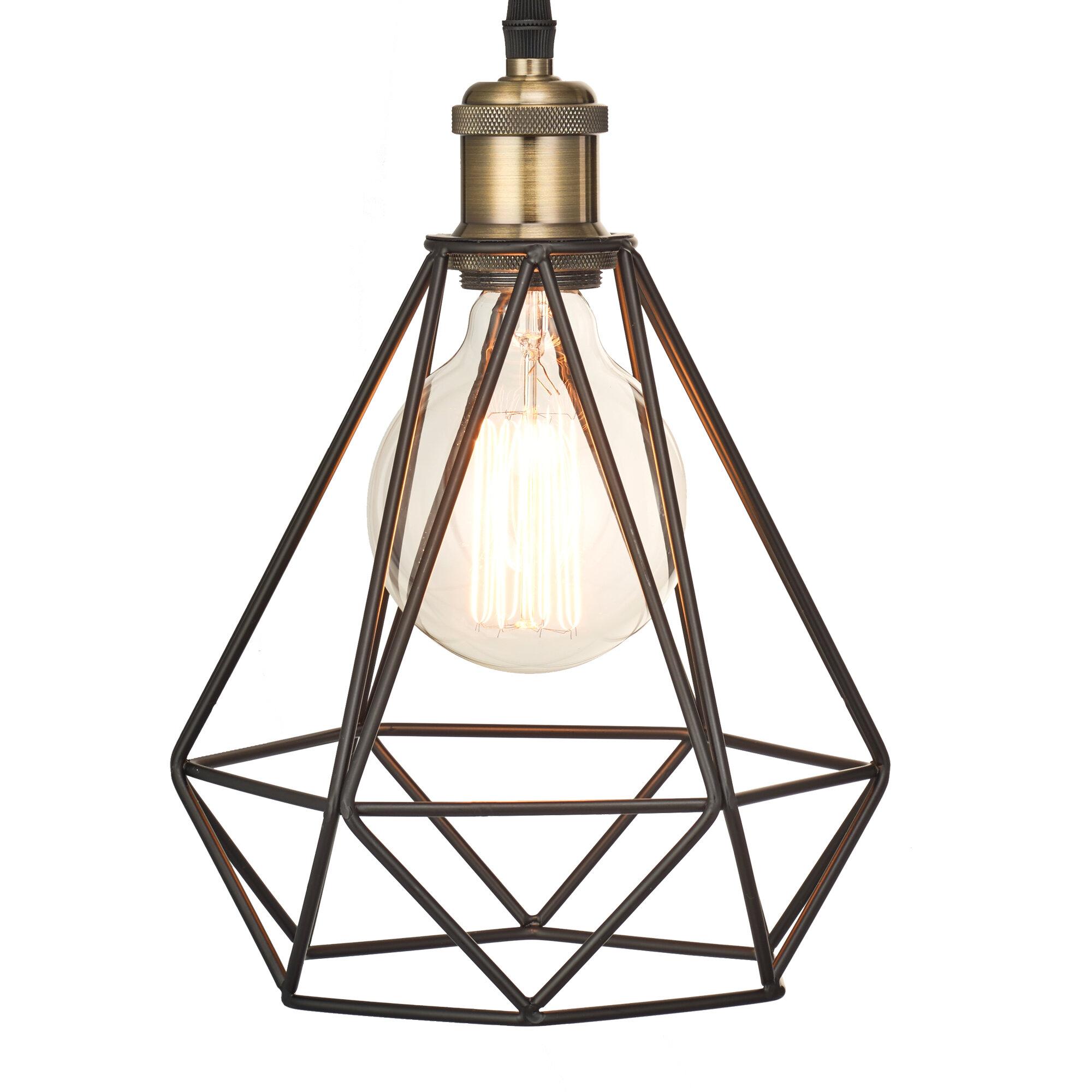 Danial Diamond Cage 1 Light Geometric Pendant