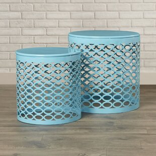 Lecenta 2 Piece Nesting Table Set