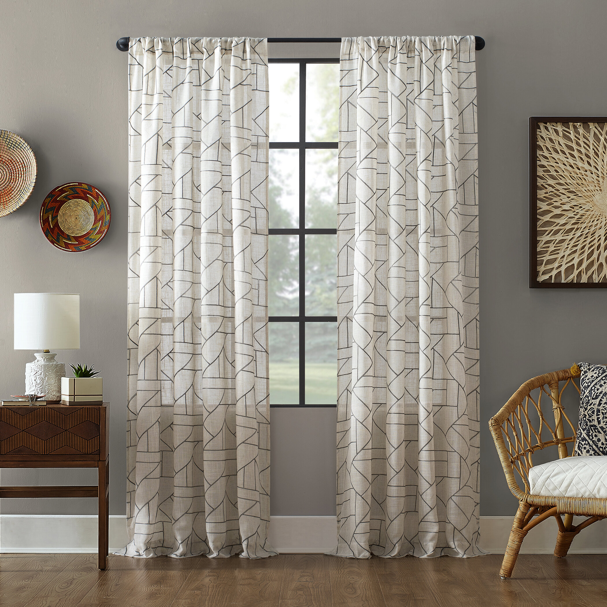 Modern Living Room Curtains Curtains Drapes Allmodern
