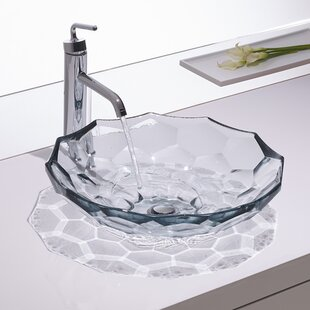 Compare prices Briolette Glass Circular Vessel Bathroom Sink By Kohler