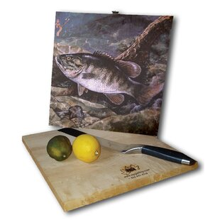 Small Mouth Bass 12 x 12 Cutting Board By WGI-GALLERY