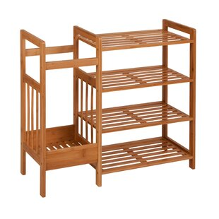 Bamboo Entryway 4 Tier Shoe Rack By Honey Can Do