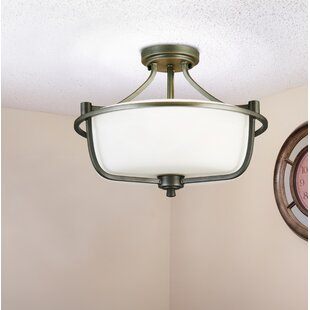 Cintron 3-Light Semi Flush Mount by Red Barrel Studio
