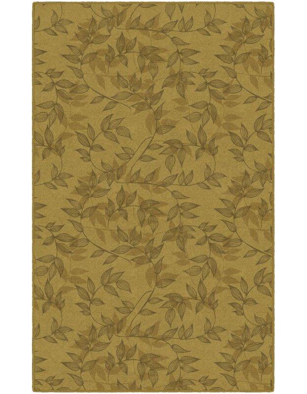 Winston Porter Roxana Floral Yellow Area Rug, Size: Rectangle 76 x 10