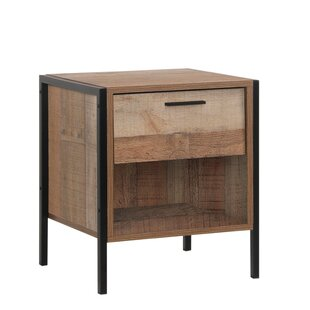 Reviews Maher 1 Drawer Nightstand by Union Rustic