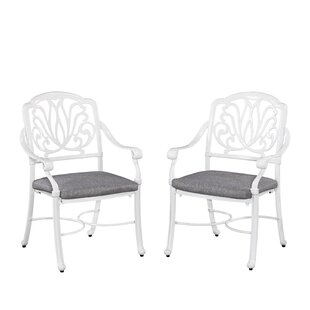 Nori Patio Dining Chair with Cushion (Set of 2) by One Allium Way