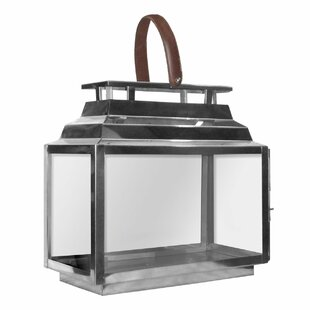 Glass/Stainless Steel Lantern by Castleton Home