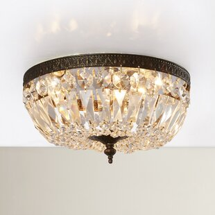 House of Hampton Aureolin 3-Light Flush Mount