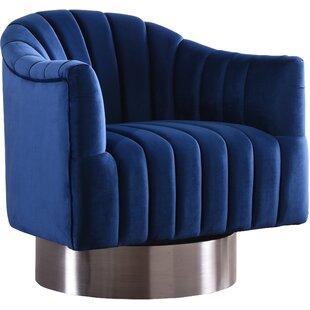 Bekah Swivel Barrel Chair by Everly Quinn