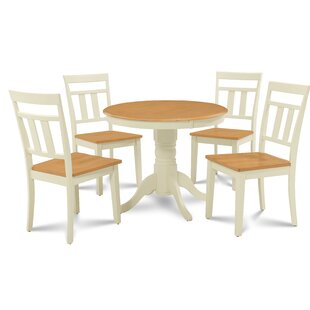 Dahlquist 5 Piece Solid Wood Dining Set by August Grove Fresh