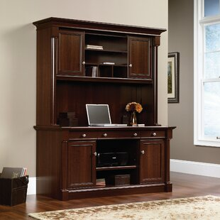 Henley Credenza Desk with Hutch by Three Posts