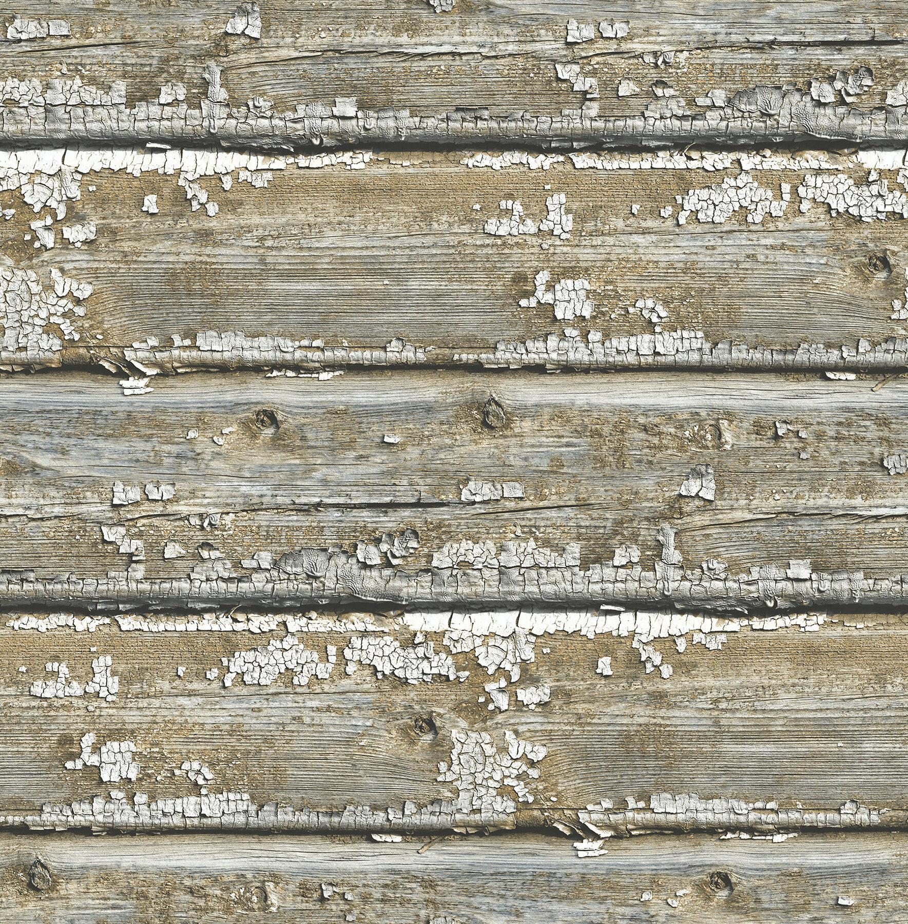 Gracie Oaks Longino Planks 18 L X 20 5 W Wood And Shiplap Stick Wallpaper Reviews Wayfair Ca
