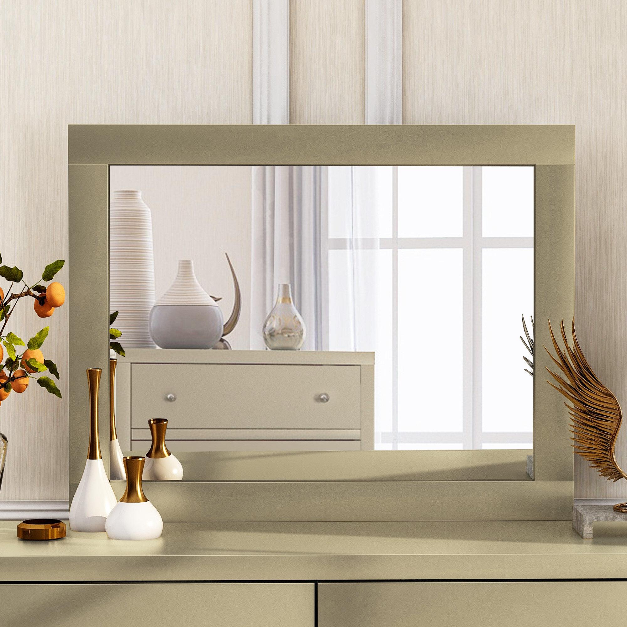Latitude Run Chatham Configurable Bedroom Modern And Contemporary Beveled Dresser Mirror Wayfair