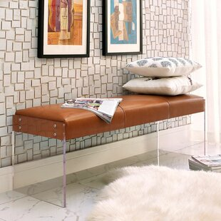 Lawson Leather Bench by Wa..