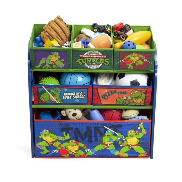 Delta Children Ninja Turtles Multi Bin Storage Organizer & Reviews   Wayfair - Delta Children Ninja Turtles Multi Bin Storage Organizer & Reviews