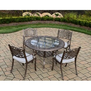 Oakland Living Mississippi 5 Piece Dining Set with Cushions