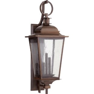 Affordable Bridport 3-Light Outdoor Wall Lantern By Canora Grey