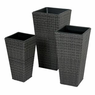 3 Piece Metal Plant Pot Set By Freeport Park