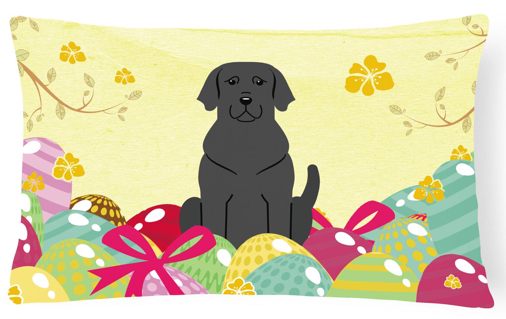 The Holiday Aisle Easter Eggs Labrador Lumbar Pillow Wayfair