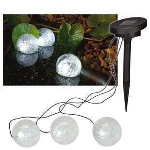 Paulo Solar Floating Pond 3 Light LED Decorative And Accent Light By Sol 72 Outdoor