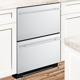 Summit Built-In 23.75-inch 4.8 cu. ft. Drawer Refrigerator with Freezer and Icemaker