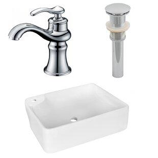 Top Reviews Ceramic Rectangular Vessel Bathroom Sink with Faucet ByRoyal Purple Bath Kitchen