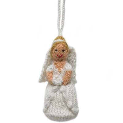 Hand-knit from an alpaca wool blend, this ornament is a great gift for newlyweds or a special anniversary. They also make great napkin rings or favors for weddings and showers. Made by a group of accomplished women knitters in Peru, Arcadia Home\'s popular line of Fair Trade knitted ornaments are knit from an alpaca blend. Not only is alpaca a wonderfully luxurious natural fiber, but alpaca cultivation provides small family farmers in the area with a steady source of income (and fabulous gardening fertilizer). Alpaca is also one of the few herd animals whose grazing and roaming do not damage the terrain they live on. Each handmade Arcadia Home design is as unique as the artisan who created it. And for each design purchased, Arcadia Home contributes to non-profit organizations dedicated to protecting the environment through their membership with 1% for the planet. Arcadia Home