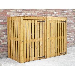 Custis Wooden Double Bin Store By Rebrilliant