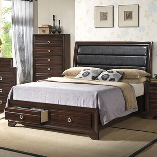Upholstered Panel Bed by Hazelwood Home