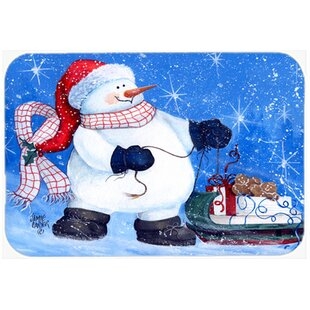 My Friends Can Ride Too Snowman Glass Cutting Board By Caroline's Treasures
