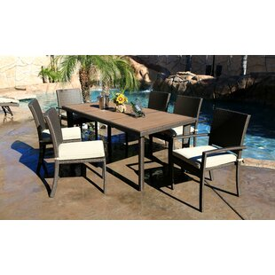 Bayou Breeze Cicero 7 Piece Dining Set with Cushions