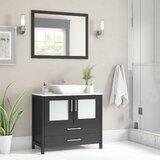 Karson 36 Single Bathroom Vanity Set with Mirror by Wade Logan®