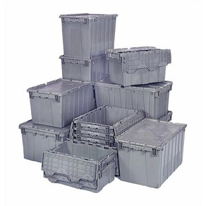 9.50 Gallon Heavy Duty Attached Top Storage Container (Set Of 3)