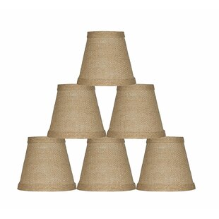 5 Burlap Empire Candelabra Shade (Set of 6)