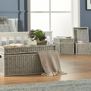 Genial Wicker Storage Trunk Set