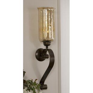 Glass and Metal Wall Sconce