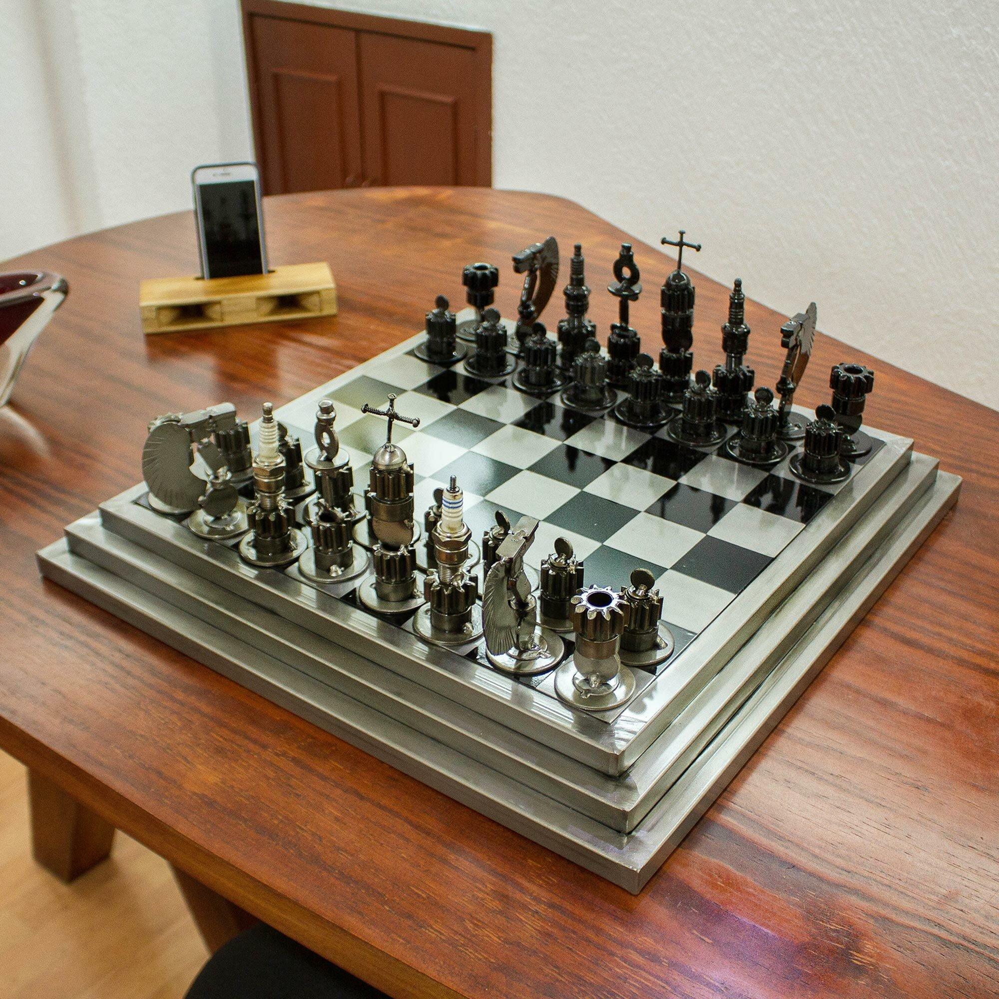 Maunie Gray Chess Board