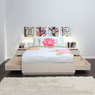 Captains Storage Platform Bed by Gothic Furniture
