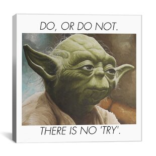 Yoda Quote Painting Print on Canvas by iCanvas