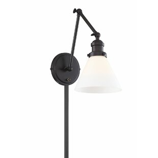 Breakwater Bay Ethel 1-Light Plug-In Swing Arm Lamp