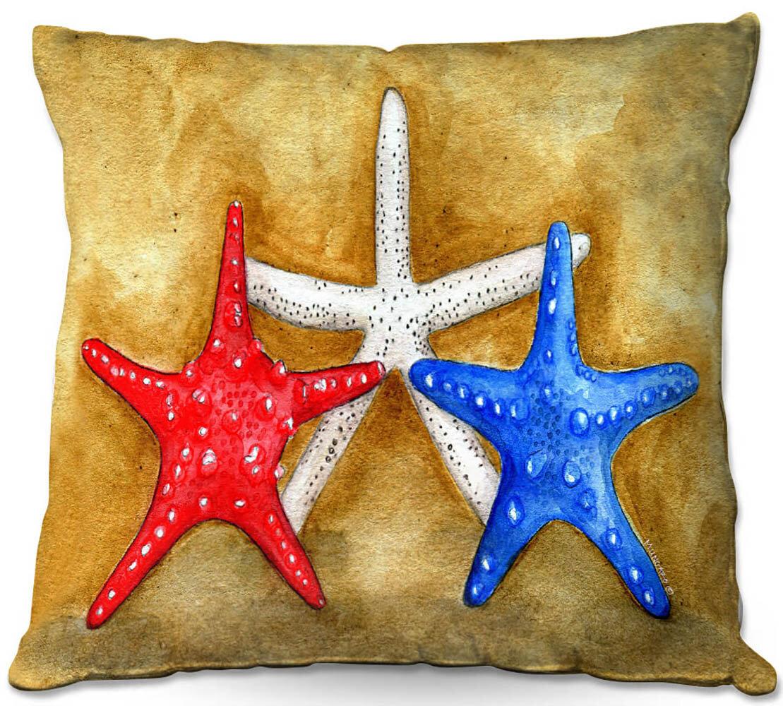 Highland Dunes Hartsfield Couch Seastars Throw Pillow Wayfair